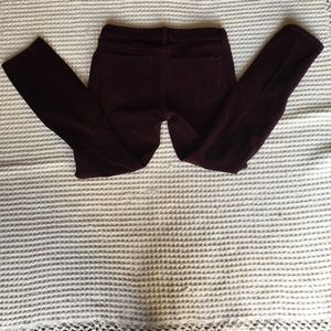 Banana Republic Maroon Corduroy Pants